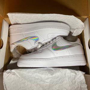 Nike Air Force 1 Essential 07 Iridescent Swoosh